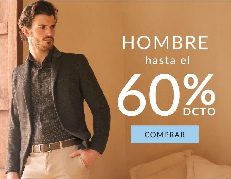 Hasta el 70% en ropa de Hombre