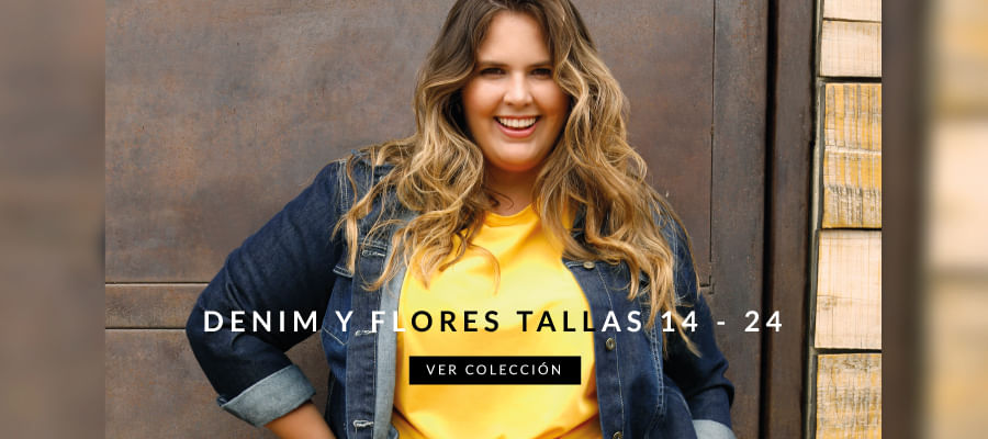 Denim y flores tallas 14-24