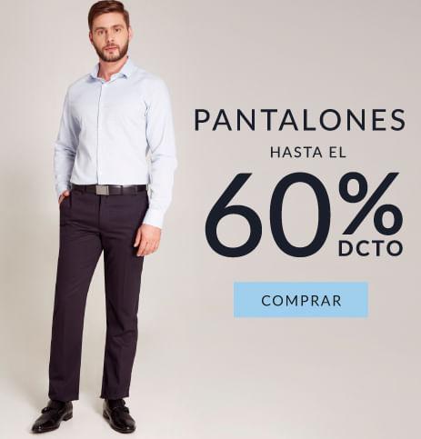 Pantalones hombre hasta el 60% dcto