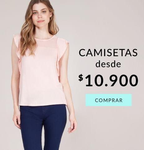 Camisetas mujer desde 10.900$