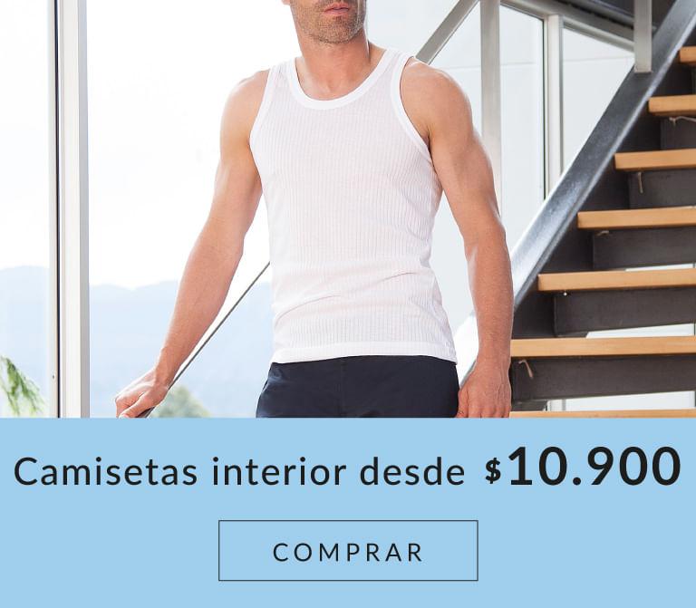 Camisetas interior hombre desde 10.900$
