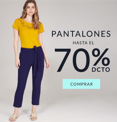 Pantalones mujer hasta el 70% dcto
