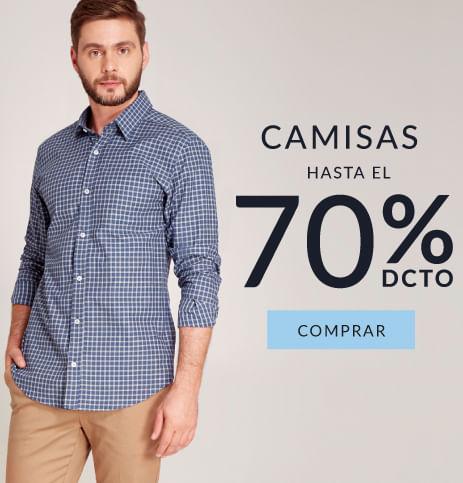 Camisas hombre hasta el 70% dcto