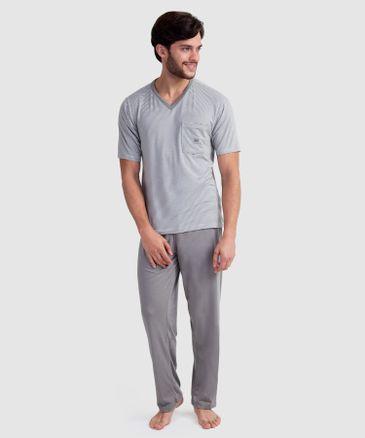 5f7523852 Pijama Camiseta A Rayas