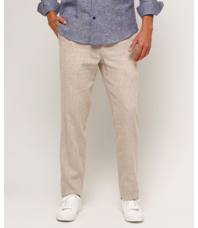 99d98d25c7 Pantalón Hombre Con Cordón De Amarre En Cintura En Color Café 44070685 -  Patprimo